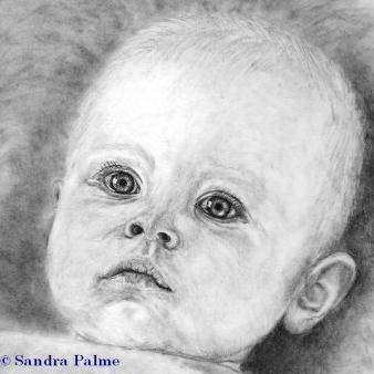 People portraits - pencil drawings of babies, children, celebrities