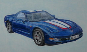 Corvette car portrait
