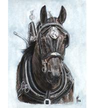 Horses Watercolour