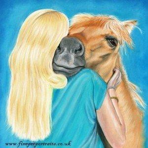 Woman & horse portrait