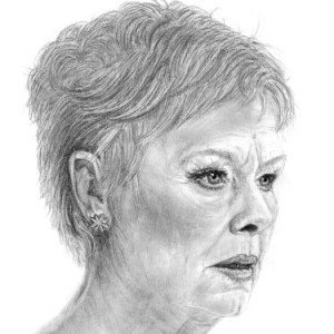 Dame Judi Dench drawing