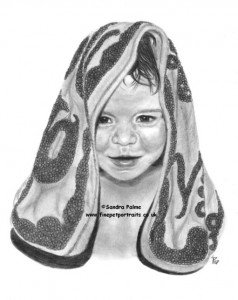 Little Girl pencil drawing