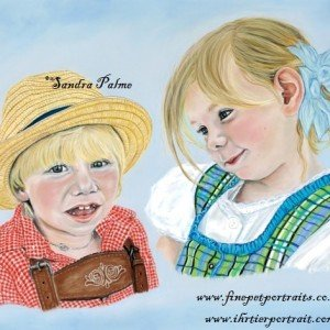 Children pastel portrait