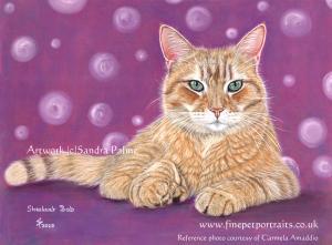 Streetcat Bob Pastel Painting by Sandra Palme